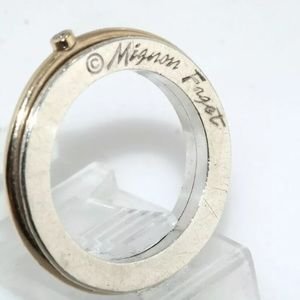 Mignam faget 3 ring size 7 silver abs gold ring